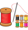 Thread and needles vector image vector image