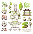 Tea logo collection vector image