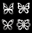 Butterfly collection on white background vector image