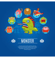 Monster Concept Icons vector image