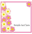 Beautiful spring background with flowers vector image vector image