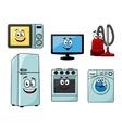 Cartoon household appliances set vector image