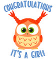 congratulations it s a girl colorful poster vector image
