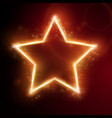 fiery star frame vector image