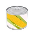 Golden corn can vector image