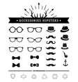 Hipster style and accessories icon set vector image