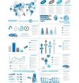 INFOGRAPHIC DEMOGRAPHICS WEB ELEMENTS BLUE vector image