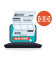 Invoice design Online payment Isolated vector image