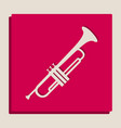 musical instrument trumpet sign grayscale vector image