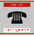 retro telephone icon vector image