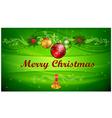 Christmas balls ornament vector image