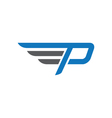 P logo template vector image