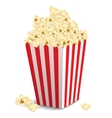 Popcorn box isolated vector image