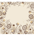 Decorative hand drawn background vector image vector image