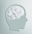 human head with gears inside vector image vector image