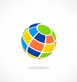 globe colorful abstract logo vector image