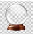 Snow globe Big white transparent glass sphere on vector image