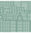 Contour of city on a light background vector image