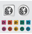 Download file single icon vector image