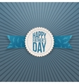 Happy Fathers Day realistic Emblem with Ribbon vector image