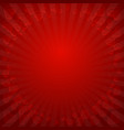 hearts love red background vector image