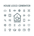 house logo generator vector image