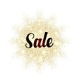 Sale sign on golden glitter splash vector image