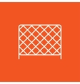 Sports nets line icon vector image