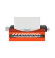 typewriter old vintage writer retro type paper vector image