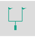 American football goal post icon vector image vector image
