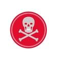 Skull death symbol vector image