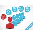 INFOGRAPHIC MODERN PEOPLE BUSINESS BLUE vector image