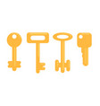flat golden keys set vector image