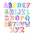 Colorful alphabet volume vector image vector image