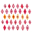 Hand draw aquarelle watercolor art paint red vector image vector image