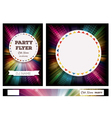 Club Flyers with copy space and rainbow vector image vector image