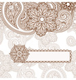Paisley background frame vector image