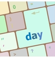 day button on computer pc keyboard key vector image vector image