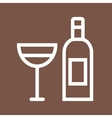 Goblet and Wine vector image