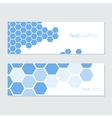 blue hexagons cards vector image