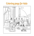 Coloring book page for kids vector image