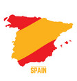 Flag and map of spain vector image