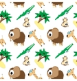 Funny pattern angry animals vector image