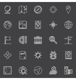 Geography line icons set vector image