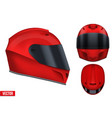 motor racing helmet with glass visor vector image