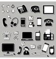 Set of electronic symbols vector image