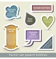 Speech bubles vector image