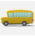 Yellow school bus cartoon vector image