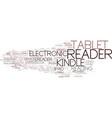 e-reader word cloud concept vector image