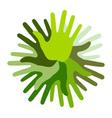Green Hand Print icon vector image
